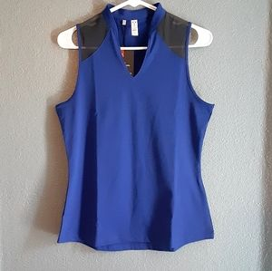 Womans underarmour muscle top blue new small